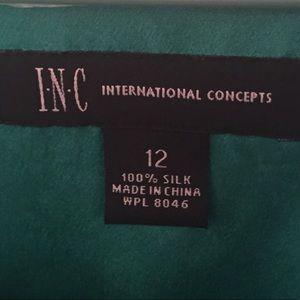 INC International Concepts Tops - INC SILK SHORT SLEEVE BLOUSE